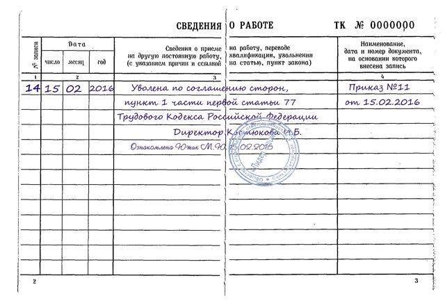 77 статья Трудового кодекса при увольнении: основания для увольнения